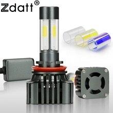 Zdatt 1Pair H8 H11 Led Lamp Bulb 100W 12000LM Car Led Headlight 12V Super Bright Fog Lamp Kits 360 Degree 4 Sides Lighting