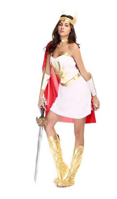 5 Pieces Womenu0027s White Sexy Egyptian Roman Warrior Dress Halloween Costumes Greek Goddess Queen Cosplay Dress M XL  sc 1 st  Aliexpress & Online Shop 5 Pieces Womenu0027s White Sexy Egyptian Roman Warrior Dress ...