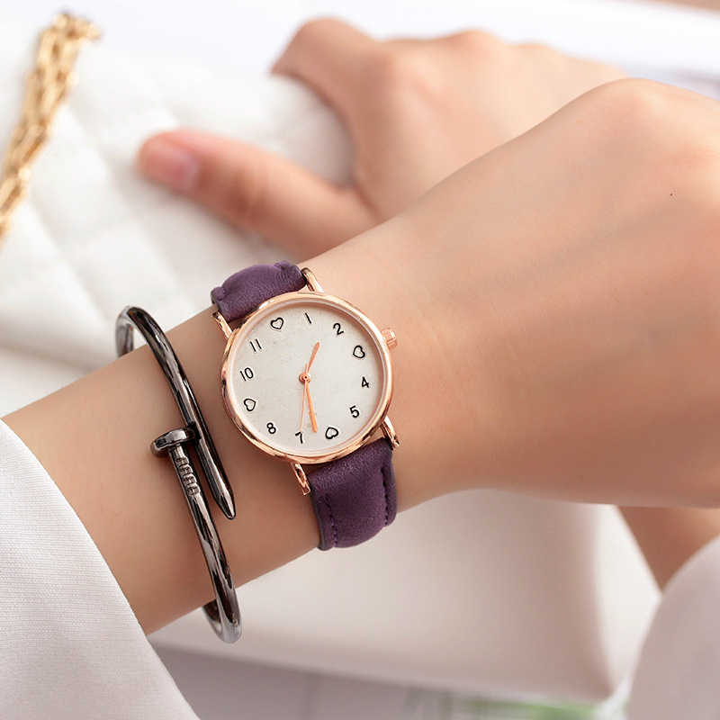 JBRL Brand 2018 Simple Wrist Watch Women PU Watch Ladies Wristwatch For Female Clock Heart Hours Gifts For Women Free Shipping
