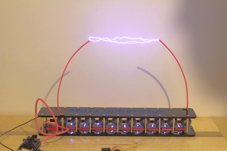2017 new verison Finished product  board 10grades Marx/impulse voltage/pulse high voltage generator Marx generator Tesla Coil detroit diesel dddl 6x verison keygen