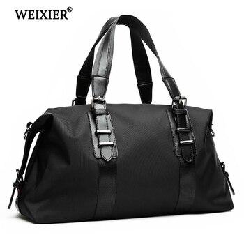 Mens Travel Bags Oxford Duffle Fashion Men Folding Bag Large Capacity Luggage Handbags