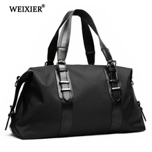 WEIXIER New 2019 Mens Travel Bags Oxford Duffle Fashion Men Folding Bag Large Capacity Luggage Handbags
