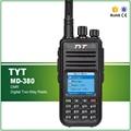 Original TYT MD-380 DMR UHF 400-480 MHZ Interphone Transceptor de Radio Móvil Digital con Cable de Software