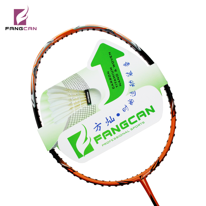 (2 pcs/lot) nouvelle annonce FANGCAN propulseur K15 raquette de badminton offensive avec cadre 6 lames raquette carbone haute marque