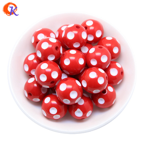Image 5 - Cordial Design Fashion Jewelry Mixed Color 12MM 14MM 16MM 18MM 20MM Resin Polka Dot Beads For Chunky Beaded Necklace Jewelry