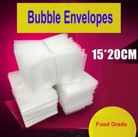 100pcs 15x20cm Bubble Envelopes Food Grade Wrap Bags Pouches Packaging PE Mailer Packing Package