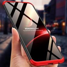 360 Degree Full Protection Hard Case For OPPO A7 oppoa7 Cover shockproof case cover + glass film