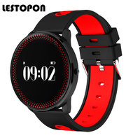 LESTOPON New Bluetooth Smart Band Bracelet Fitness Tracker With Heart Rate Monitor Waterproof Watches Blood Pressure