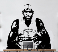 Lebron James Wall Sticker NBA Cavs Basketball Player Vinyl Decal Decor School Dorm Living Room Teen Bedroom Home Art Mural