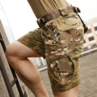Mens New Summer Camouflage Tactical Cargo Casual Shorts Male Silm Military Sport Combat Training Shorts Multiple