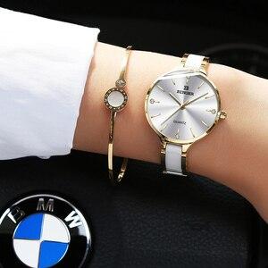 Image 2 - Switzerland BINGER Luxury Women Watch Brand Crystal Fashion Bracelet Watches Ladies Women Wristwatches Relogio Feminino B 1185 5