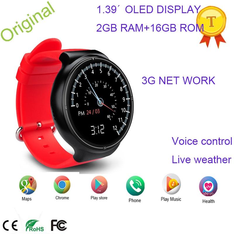 Оригинальные Смарт-часы 2 Гб ОЗУ 16 Гб ПЗУ Android 5 1 MTK6580 монитор сердечного ритма поддержка Wif Google карта Google Pay 3G SIM