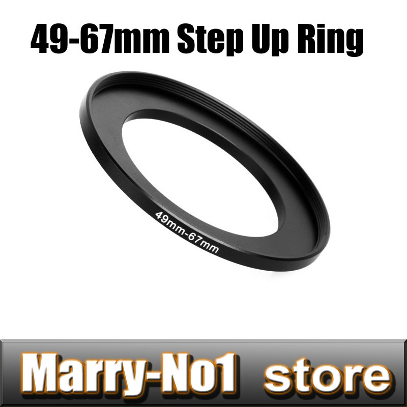 Free shipping + Trcking Number Black Step Up Filter Ring Lens Ring 49mm to 67mm 49mm -67mm