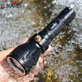 YUPARD Underwater diving 100m diver Torch XM-L2 T6 LED Lamp Waterproof Flashlight 18650 battery outdoor fishing camping hunting