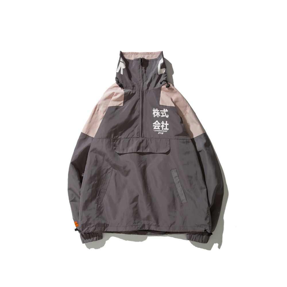 2019 Herfst Hip Hop Jas Windjack Mannen Japan Harajuku Multi Zakken Jasje Retro Vintage Casual Track Jacket Streetwear