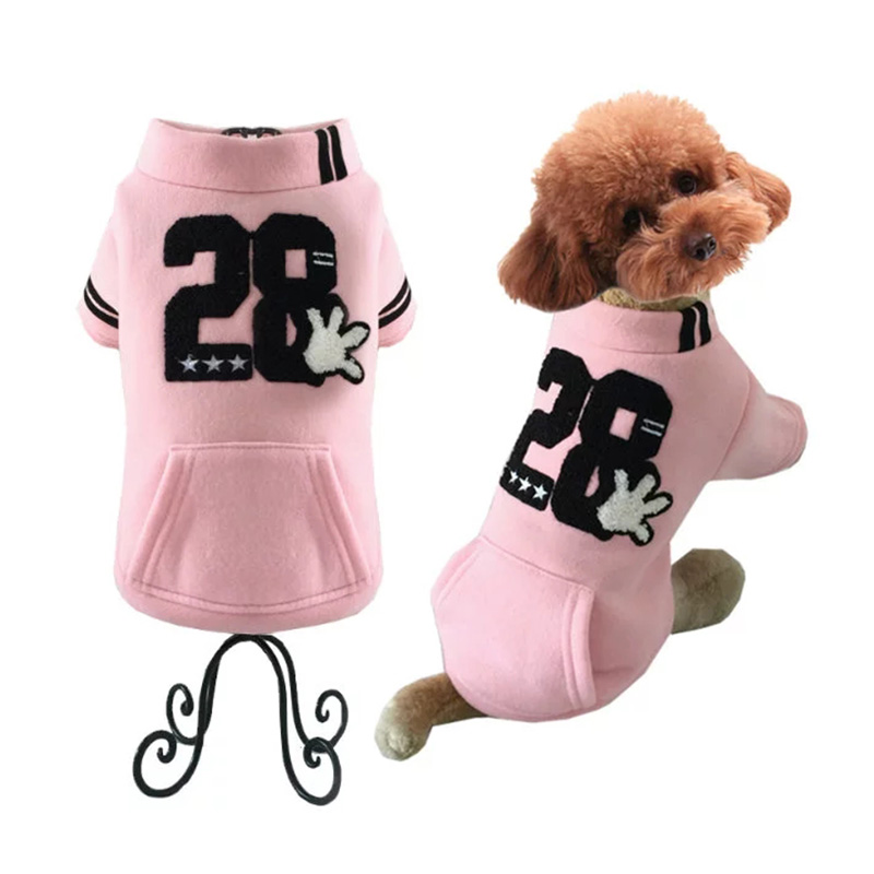 Dog Clothing & Shoes Faithful Dog Coat Costume Christmas Winter Warm Dog Cat Cotton Polyester Clothes Sport Style Cute Stripe Apparel Cool Baseball Uniform