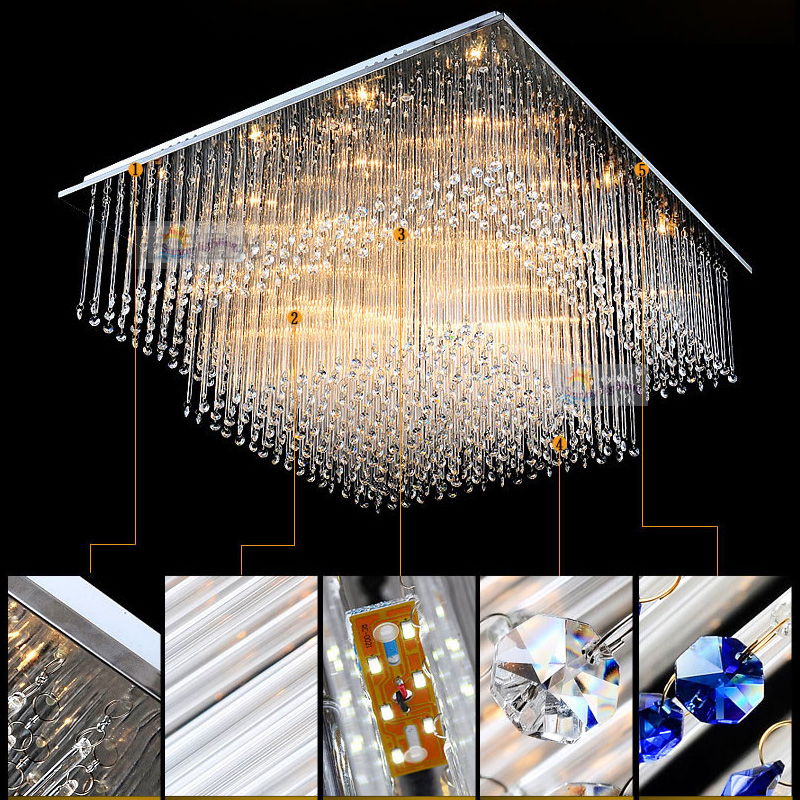modern crystal chandeliers ceiling lamp lights lamp led interior ceiling surface mount ceiling lamp for interior - Modern Crystal Chandeliers