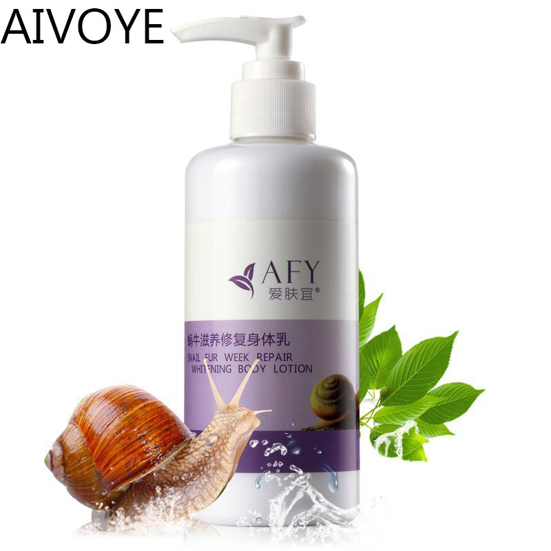 AIVOYE snail fur week repair whitening body lotion body care makeup cream Snail essence anti wrinkle Nourishing repair cream