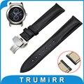 22mm Genuine Leather Watch Band Quick Release Strap for LG G Watch W100 / W110 / Urbane W150 Butterfly Clasp Wrist Belt Bracelet