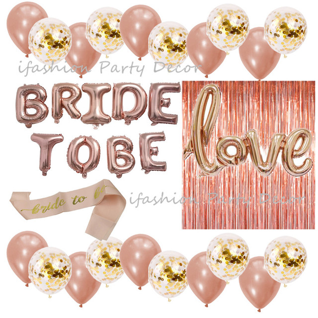 e09e97964acc Rose Gold Bridal Shower Decorations Bachelorette Gifts Bride To Be Banner
