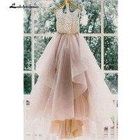 Sexy Backless A Line Beading Long Bridal Dresses Beach Wedding Dresses Princess Party Dress