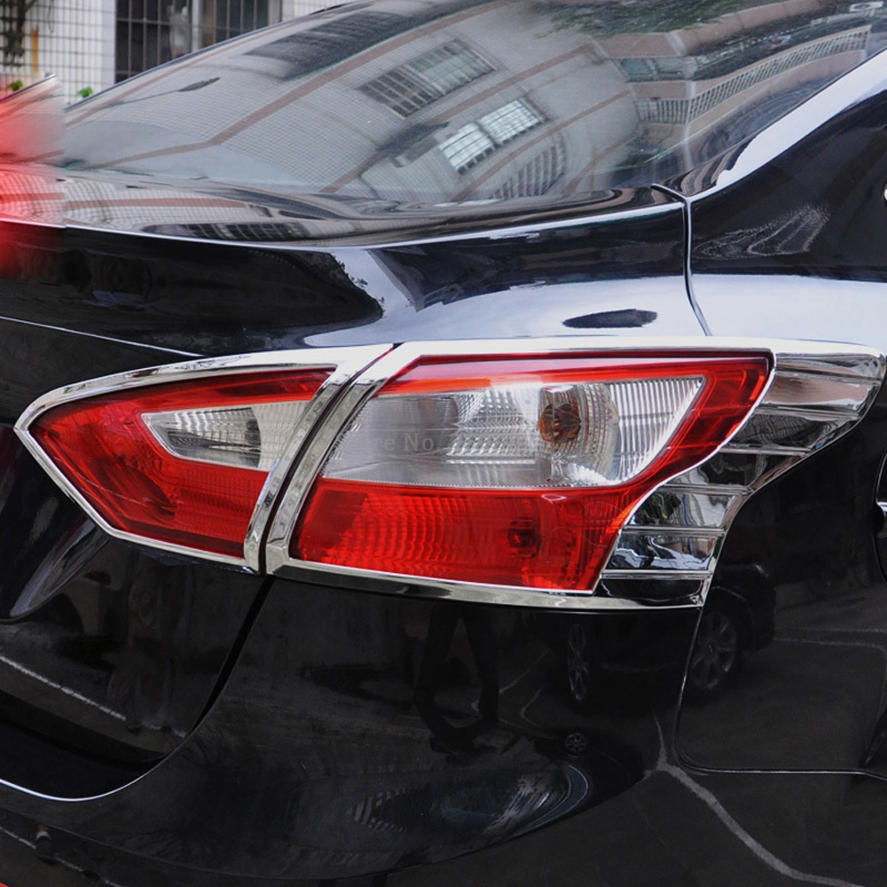 Brand New Chrome ABS Rear Tail Light Lamp Cover Trim Molding Accessories font b Exterior b