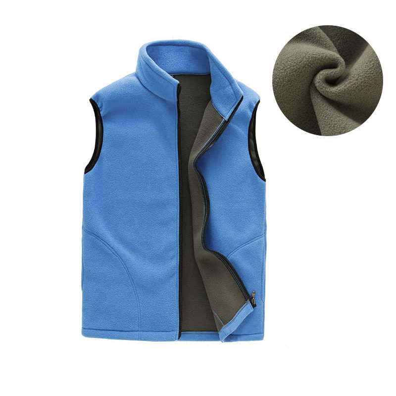 Mens Windproof Sleeveless Jacket Casual Winter Fleece Vest Male Thick Warm Waistcoat Outwear Thermal Soft Vests 6 Colors