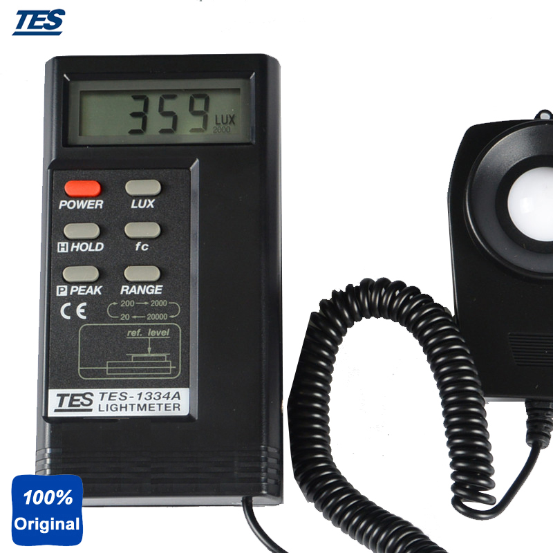 Digital Light Meter Lux Tester Illuminance Meter with Data Hold Function Peak Hold function TES-1334A light lux meter digital with data record function 0 200 000 measurement range auto ranging lux instrument