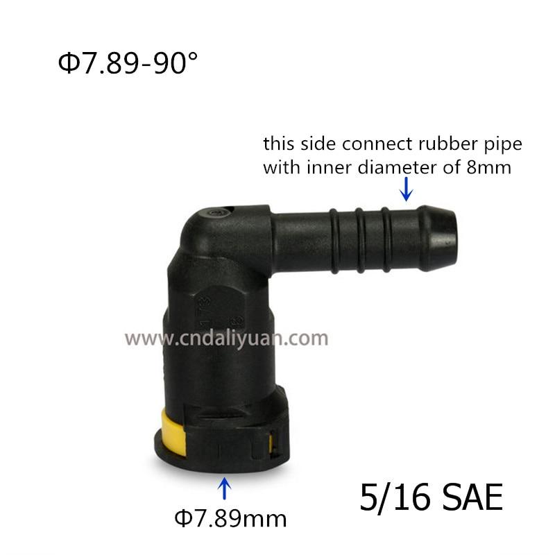 7,89mm SAE 5/16 Kraftstoff-Rohrfittings Auto Kraftstoffleitung Gummileitung für Volkswagen Lavid Polo Skoda für Haval