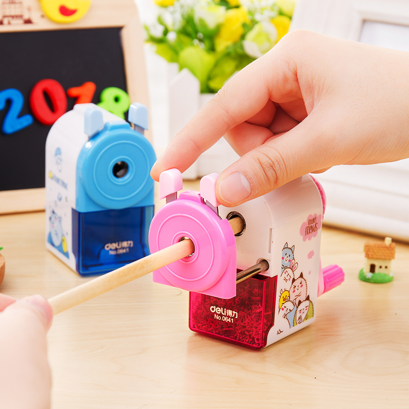 Cute animal mechanical pencil sharpener Mini Cartoon sharpeners for pencils Stationery School supplies material escolar F764 new arrival deli sweet house children pencil sharpeners 0724 cute cartoon students mechanical pencils writing supplies blue