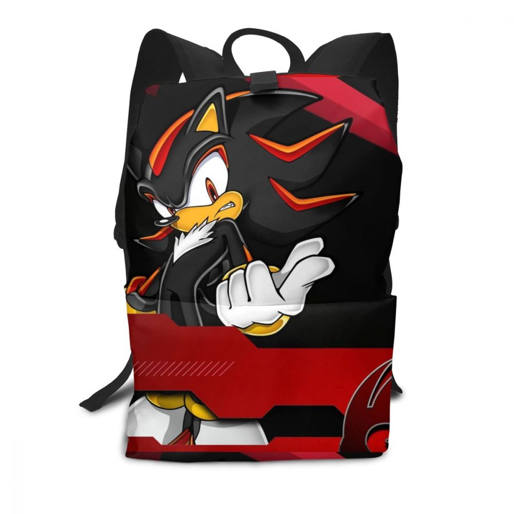 Shadow Sonic Backpack Shadow The Hedgehog Backpacks Pattern High Quality Bag Multifunction Sports Men's - Women's Trendy Bags