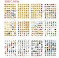 10 лист(ов) / lot IOS 9.1 новые увлекательные Emoji улыбка наклейки ( 48 DieCut ) наклейки для ноутбука, Сообщение * высокое качество винил * смешные * творческий стикеры приколы наклейки смайлики