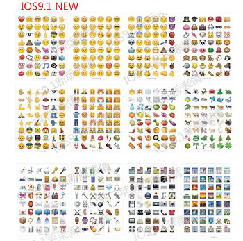 mixed or same 10 sheets/lot  Classic/face/New Emoji stickers 48 Die Cut sticker for notebook fun message Vinyl*funny*creative