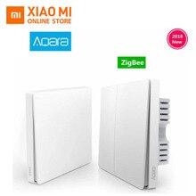 Оригинальный Xiaomi Aqara Mijia Умный дом свет управление один огонь провода ZigBee беспроводной ключ настенный выключатель через Смартфон APP Remote