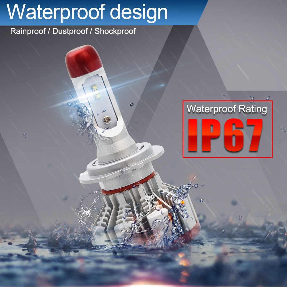 BraveWay H7 LED H4 LED H11 Car Light Canbus Headlight Bulb 12000LM H8 H1 HB3 9005 9006 H9 64W 6500K 12V 24V Auto HB4 Led H7 Bulb
