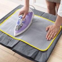 1 шт. термостойкая тканевая сетка для гладильной доски коврик для одежды Защитный гладильный коврик 60*40 см 50*35 см случайный цвет Новинка