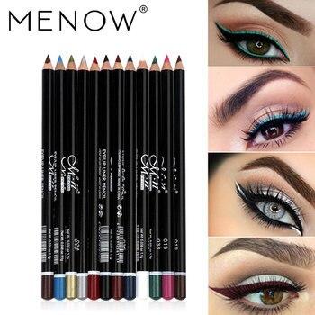 MENOW 12 Colors Eyeliner Makeup Eye Pencil Waterproof Eyebrow Eye Shadow Eye Liner Lip Sticks Cosmetics Eyes Make Up HOT SALE 1