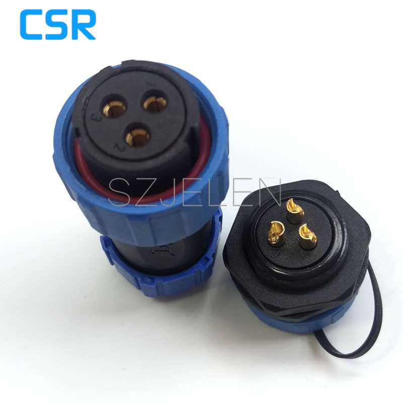 SP2110/S3-P3, 3 pin Waterproof connector ,3-pin Industrial Connectors, 20 amps of high-voltage power connector plug and socket блок управления отопителем ваз 2110 цена