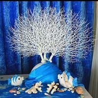 Artificial Tree Branch Peacock Coral Branch Plants The Wedding Home Decoration Plastic Adornment Photography Props Home