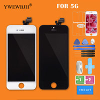 YWEWBJH AAA LCD For IPhone 5 Display Touch Screen Assembly Digitizer Glass No Dead Pixel Repair