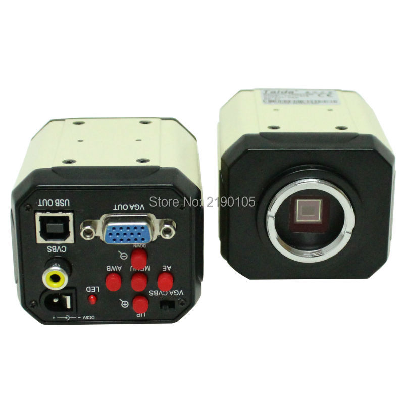 HD 2.0MP 3 in1 Digital Industrial Microscope Camera for PCB lab VGA CVBS USB AV TV Outputs