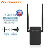 COMFAST CF WR750AC 750Mbps Dual Band WIFI Repeater Wireless Routers wi fi amplifier 5G 802.11AC Wi fi Roteador Wifi Extender