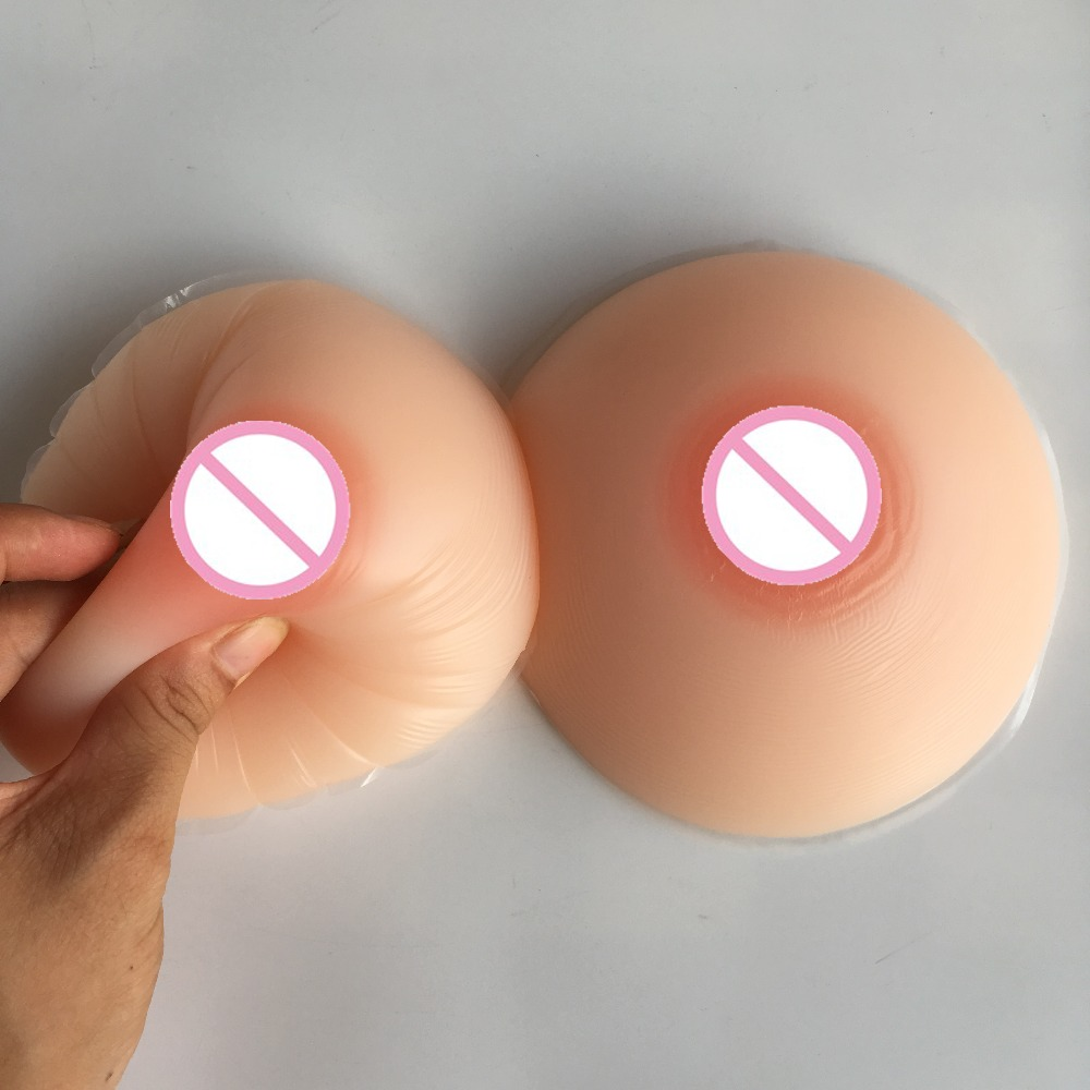 500G Real Round Silicone Breasts Drag Queen Crossdressing -6682