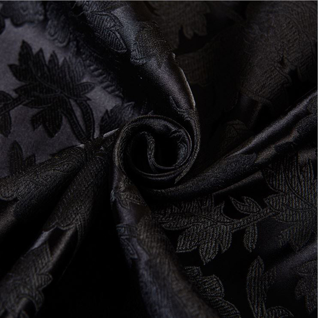 115x100cm High Quality black Metallic Jacquard Brocade ...