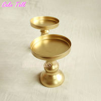 Metal Iron candle holder cupcake mini cake stand 8*10 cm decorator for cupcake muffin multi-color accept flower vase