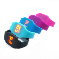 WAOUKS LED Watch Silicone Watch Children S Electronic Watch LED Electronic Watch Student Wristbands