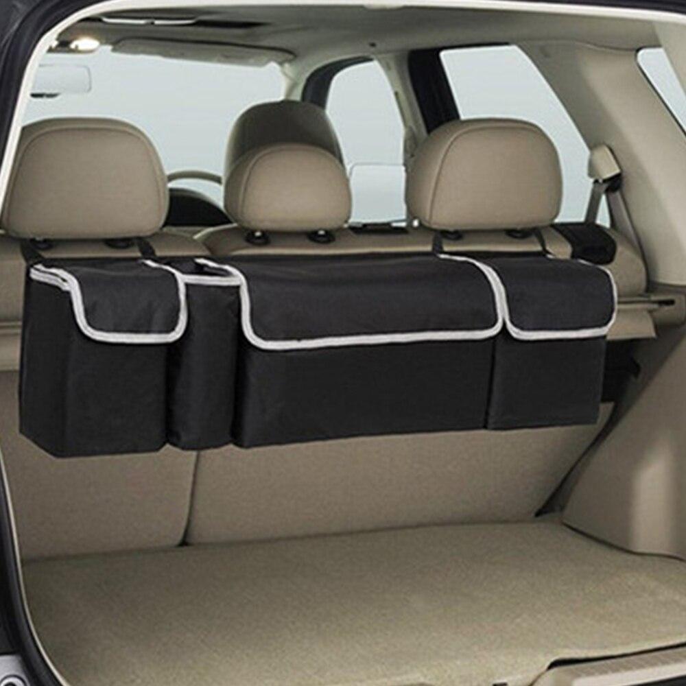 Bagagliaio di un'auto sacchetto di immagazzinaggio organizzatori di backup ad alta capacità multi-uso Oxford cloth torna accessori interni auto organizer box