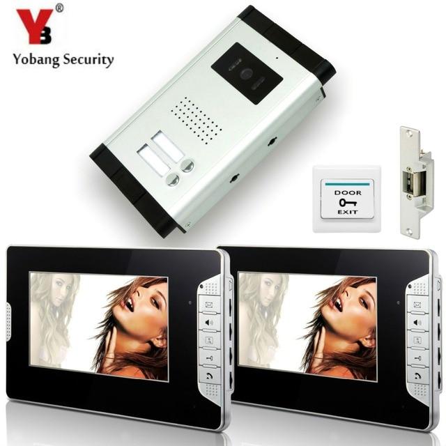 Yobangsecurity 2 Units Apartment Wired 7video Door Phone Video Door