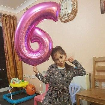32/40インチフォイル番号バルーンゴールドパーティーバロン1歳の誕生日パーティーの装飾子供aduld男の子ベビーシャワーガールバルーン1