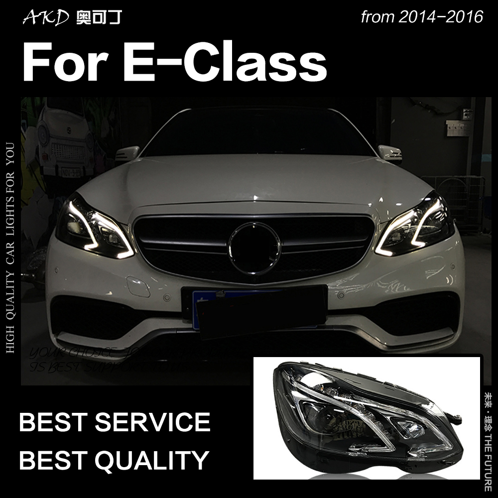 AKD Car Styling Head Lamp for W212 Headlights 2013 2016 W211 E200 E300 E260 LED Headlight